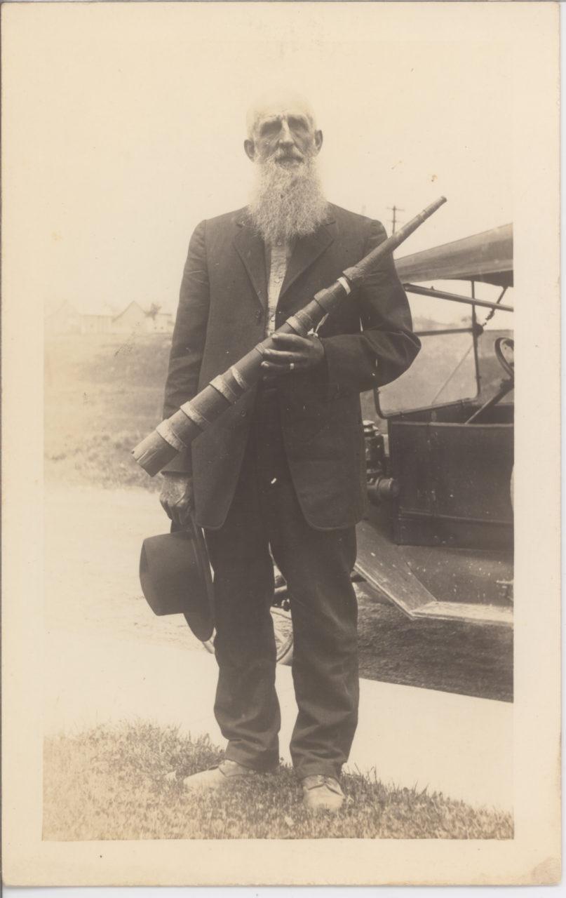 R. M. Bever Hillsboro IND Wooden Bugle