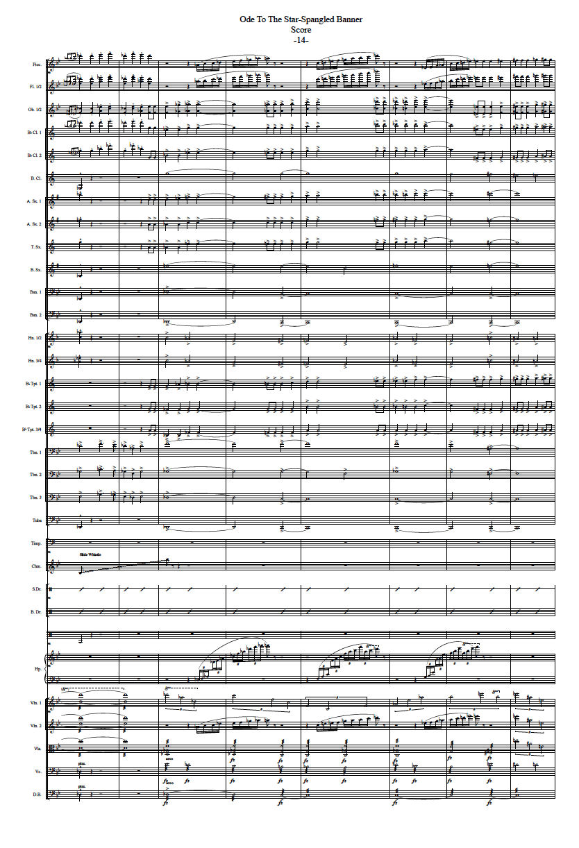 modern score